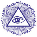 Eye providence all seeing eye god famous mason symbol vector illustration Stock Photography