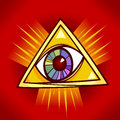 Eye of providence illustration cartoon clip art Stock Photos