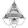 Eye Pyramid Black Royalty Free Stock Photo