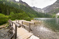 Eye of the sea lake in tatra mountains poland Royalty Free Stock Images