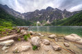 Eye of the sea lake in tatra mountains poland Royalty Free Stock Photos