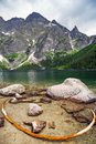 Eye of the sea lake in tatra mountains poland Royalty Free Stock Image