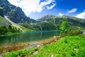 Eye of the sea lake in tatra mountains poland Royalty Free Stock Photography