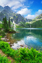 Eye of the sea lake in tatra mountains poland Stock Photo