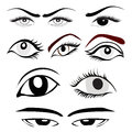 Eye set of different designs Stock Photography