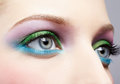 Eye shadow make up Royalty Free Stock Photo