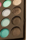 Eye shadows palette close up studio Stock Photography