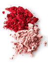 Eye shadows pink and red on white background Royalty Free Stock Images
