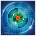 Eye Shape Abstract Background Stock Photos