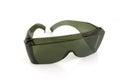 Eye shields over white shallow dof Royalty Free Stock Photography