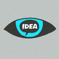 Eye symbol with idea word Royalty Free Stock Photo