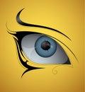 Eye tattoo Royalty Free Stock Photo