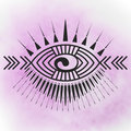Eye tattoo print Royalty Free Stock Photo