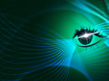 Eye Tech Represents Blazing Look And Iris Royalty Free Stock Photo