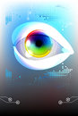 Eye technology colorful iris e learning background Stock Images