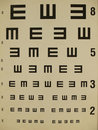 Eye test chart Royalty Free Stock Photo