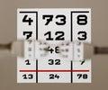 Eye test chart Stock Image