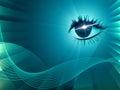 Eye Twirl Indicates Light Burst And Artistic Royalty Free Stock Photo