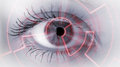 Eye viewing digital information conceptual image Stock Images