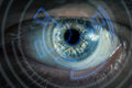 Eye viewing digital information conceptual image Royalty Free Stock Photo