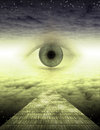 An eye on the yellow brick road Royalty Free Stock Photo