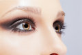 Eye zone make up close portrait of beautiful young woman s makeup Stock Image