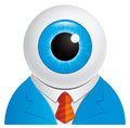 Eyeball businessman Royalty Free Stock Photo