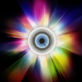 Eyeball and explosion background Royalty Free Stock Photo