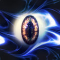 Eyeball of monster abstract scary d a halloween background Royalty Free Stock Images
