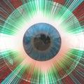 Eyeball with rays Royalty Free Stock Photo