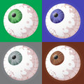 Eyeball selection Stock Image