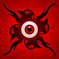 Eyeball with tentacles Royalty Free Stock Photos
