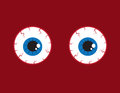 Eyeballs Bloodshot Royalty Free Stock Photo