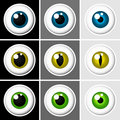 Eyeballs human and animal Royalty Free Stock Image