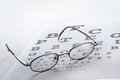 Eyeglass with the alphabet paper Stock Photography