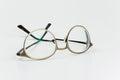 Eyeglasses frame glass help mens optic Stock Photo