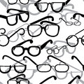 Eyeglasses seamless Royalty Free Stock Photo