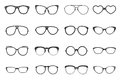 Eyeglasses Set Flat Royalty Free Stock Photo