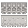 Eyelet lace decorative ornament for border of fabric. Royalty Free Stock Photo