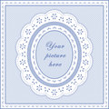 Eyelet Lace Frame, Seamless Background Royalty Free Stock Photography