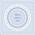 Eyelet Lace Frame, Seamless Background Royalty Free Stock Images