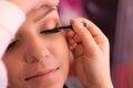 Eyelid makeup Royalty Free Stock Photo