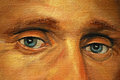 Eyes of adult man illustration painting by oil on a canvas Stock Images