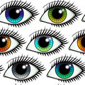 Eyes Colorful Seamless Pattern