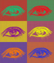 Eyes in complementary colors Stock Photos