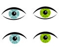 Eyes icons Stock Photos