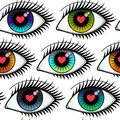 Eyes of Lovers Seamless Pattern