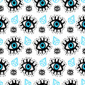Eyes patches seamless pattern