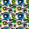 Eyes Seamless Background Stock Images