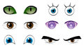 Eyes set vector cartoon for your characters eps vector Royalty Free Stock Image